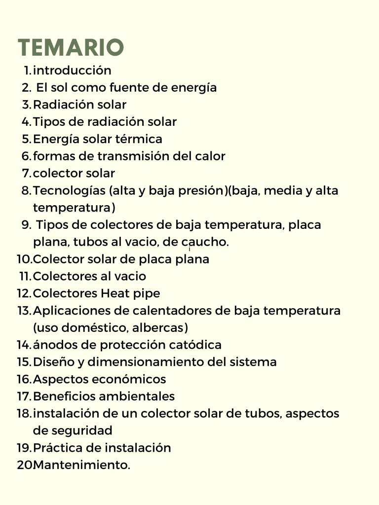 temario solarizando mexico